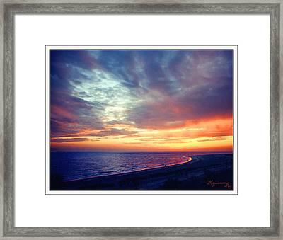 Sunset At Lido Key Framed Print by Mariarosa Rockefeller