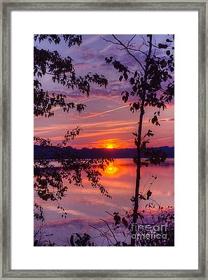 Framed Print featuring the photograph Sunset At Loch Raven by ELDavis Photography