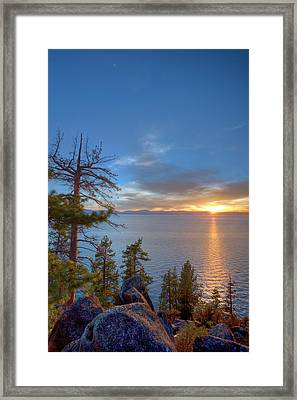 Sunset At Logan Shoals On The East Side Framed Print by Tom Norring