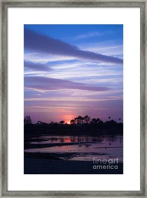 Sunset At Malibu Beach Lagoon Estuary Fine Art Photograph Print Framed Print