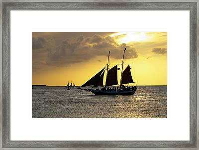 Sunset At Mallory Square II Framed Print