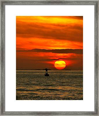 Sunset At Mallory Square Framed Print