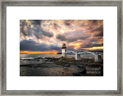 Sunset At Marshall Point Framed Print by Scott Thorp