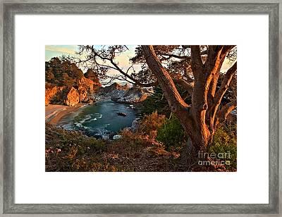 Sunset At Mcway Falls Framed Print
