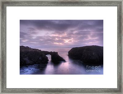 Sunset At Mendocino Framed Print by Bob Christopher