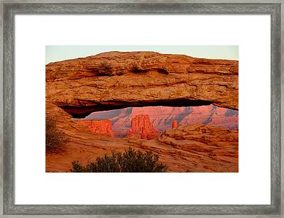 Sunset At Mesa Arch Framed Print