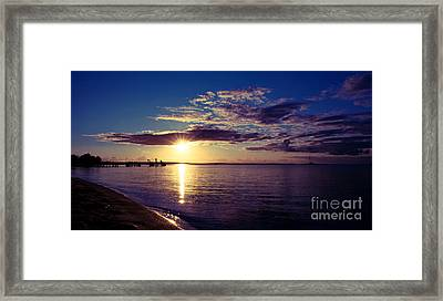 Sunset At Monkey Mia Framed Print