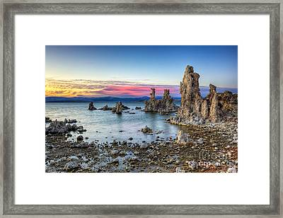 Sunset At Mono Lake Framed Print