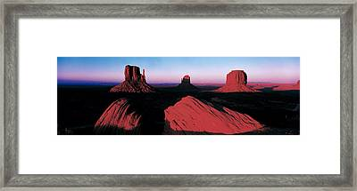 Sunset At Monument Valley Tribal Park Framed Print by Panoramic Images