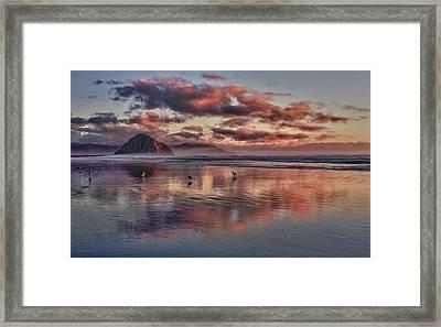 Sunset At Morro Strand Framed Print