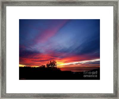 Sunset At Mount Carmel  Haifa 01 Framed Print