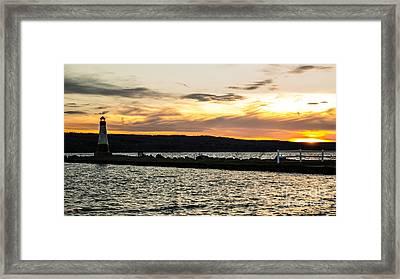 Sunset At Myers Framed Print