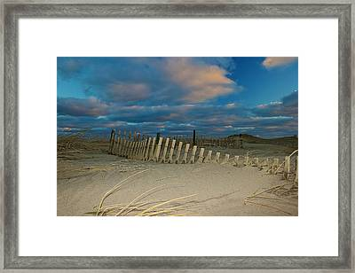Sunset At Nauset Beach Cape Cod Framed Print by Amazing Jules