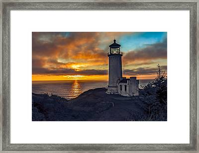 Sunset At North Head Framed Print by Robert Bales