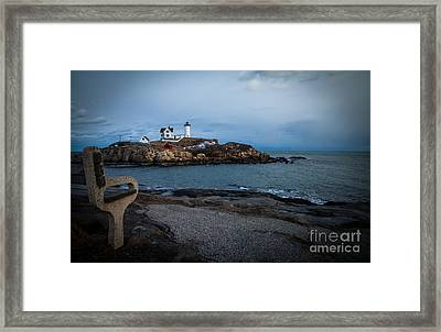 Sunset At Nubble Light House Framed Print by Sue OConnor