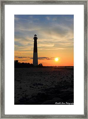 Sunset At Old Barney Framed Print by Michelle Nixon