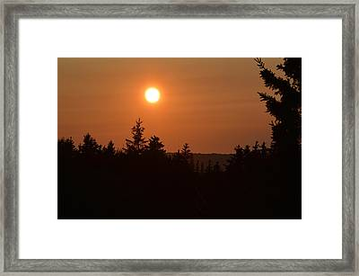 Sunset At Owl's Head Framed Print