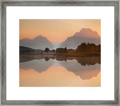 Sunset At Oxbow Framed Print