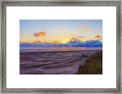 Sunset At Pacific Beach Framed Print by Paddrick Mackin