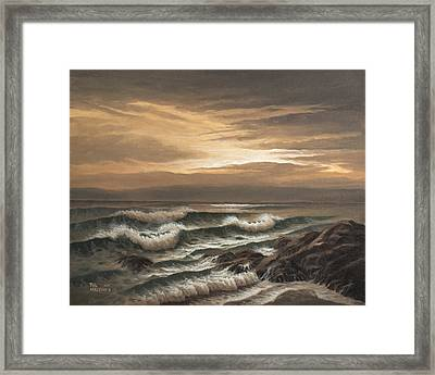 Sunset At Pacific Grove Framed Print