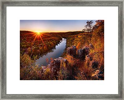 Sunset At Paint-rock Bluff Framed Print by Robert Charity