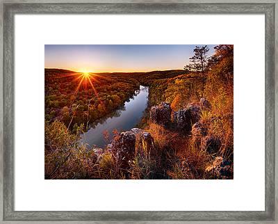 Sunset At Paint-rock Bluff Framed Print