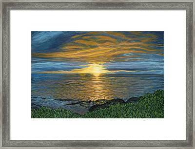 Sunset At Paradise Cove Framed Print by Michael Allen Wolfe