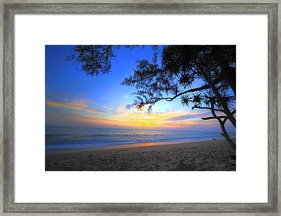Sunset At Paradise Framed Print by Ed Cilley