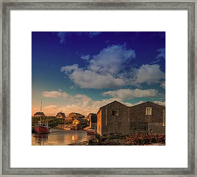 Sunset At Peggy's Cove 05 Framed Print