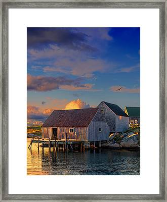 Sunset At Peggy's Cove 06 Framed Print