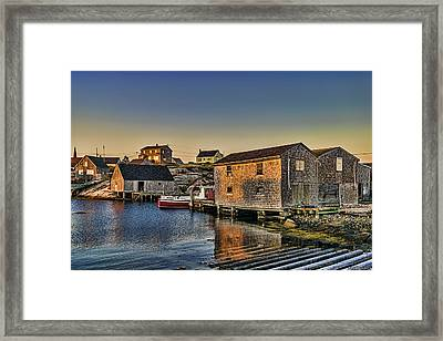 Sunset At Peggy's Cove IIi Framed Print
