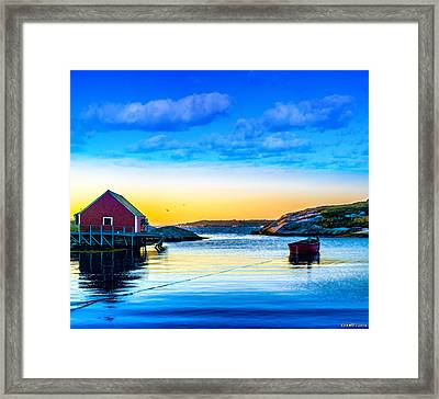 Sunset At Peggy's Cove  Framed Print