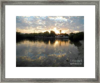 Sunset At Pennekamp Framed Print by Adam Jewell