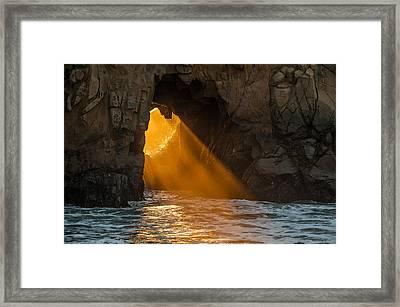 Sunset At Pfeiffer Beach Framed Print by George Buxbaum