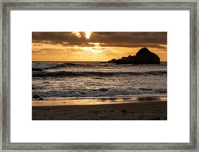 Framed Print featuring the photograph Sunset At Pfeiffer State Beach by Lee Kirchhevel