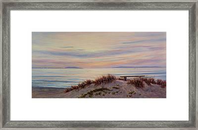 Sunset At Pierpont Beach Framed Print