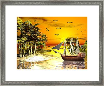 Sunset At Pirates Cove Framed Print