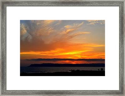 Sunset At Point Loma From Coronado California Framed Print
