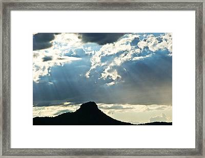 Sunset At Prescott Sun 134 Framed Print
