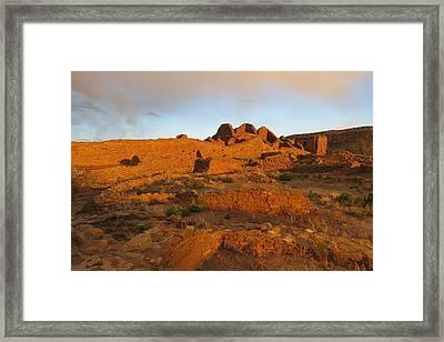 Sunset At Pueblo Del Arroyo Framed Print