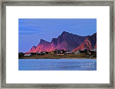 Sunset At Ramberg Framed Print by Heiko Koehrer-Wagner
