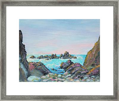 Sunset At Reef Cove Framed Print