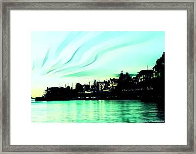 Sunset At Richmond Beach Washington Framed Print