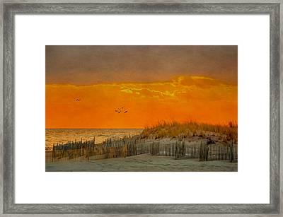 Sunset At Robert Moses Park Framed Print
