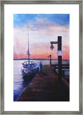 Sunset At Rocky Point Framed Print