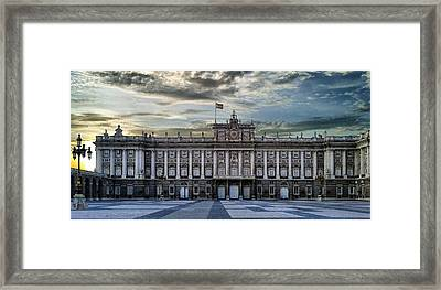 Sunset At Royal Palace Framed Print