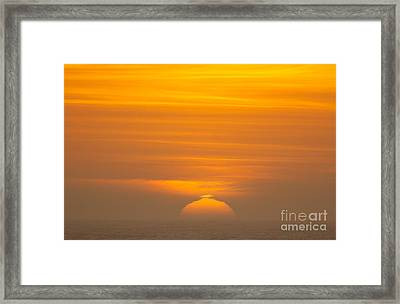 Sunset At Samoa 1.7117 Framed Print by Stephen Parker