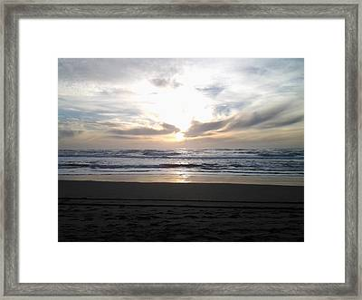 Sunset At San Gregorio Framed Print