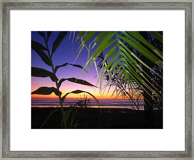 Sunset At Sano Onofre Framed Print