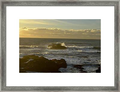 Sunset At Santa Cruz Framed Print by Alex King